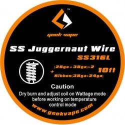 GeekVape SS Juggernaut Tape Wire 10ft