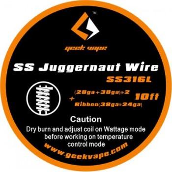 GeekVape SS Juggernaut Tape Wire 10ft