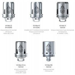 Smok TFV8 X-Baby Replacement Coil Heads 3Pk
