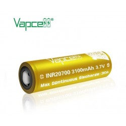 Vapcell 20700 Battery 3100 mAh 30A Gold