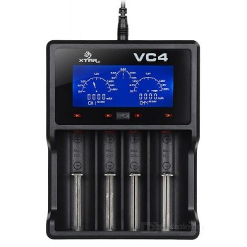 XTAR VC4 Battery Charger with LCD Display