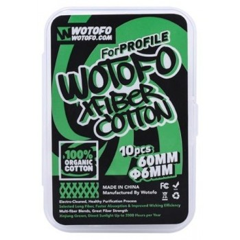 Wotofo X Fiber Cotton 6mm for Profile RDA and Profile Unity RTA 10pcs