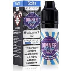 Blackcurrant Ice 20mg Nic Salt E Liquid by Dinner Lady
