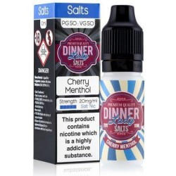 Cherry Menthol 20mg Nic Salt E Liquid by Dinner Lady