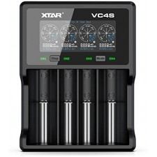XTAR VC4S Battery Charger with Color LCD Display