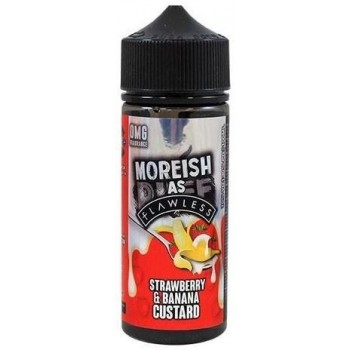 Strawberry & Banana Custard by Moreish as Flawless E Liquid | 100ml Short Fill
