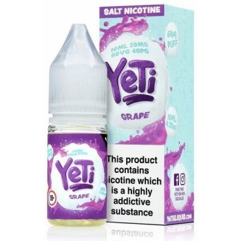 Grape Yeti Nic Salt 20mg 10ml E-Liquid