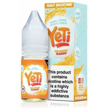 Orange Mango Yeti Nic Salt 20mg 10ml E-Liquid