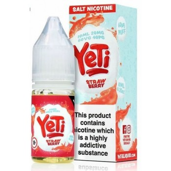 Strawberry Yeti Nic Salt 20mg 10ml E-Liquid