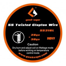 GeekVape SS Twisted Clapton Tape Wire All Types