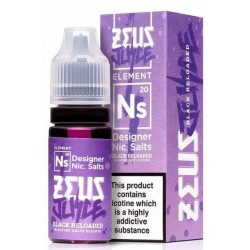 Black Reloaded Zeus Nic Salt 20mg 10ml E-Liquid