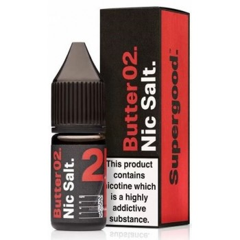 Butter 02 by Supergood Nic Salt 20mg 10ml E-Liquid